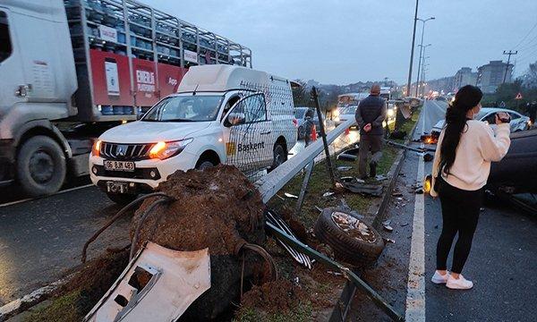 Zonguldak'ta 4 aracın karıştığı zincirleme kaza